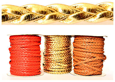 £2.19 • Buy Faux/PU Leather Brided Cord Trimming Jewellery Craft DIY