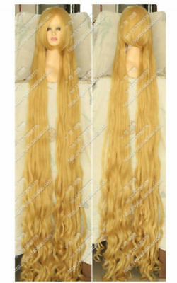 Blonde Tangled Rapunzel  200CM Long Wavy Curly Cosplay Party Wig Hair • 41.99£