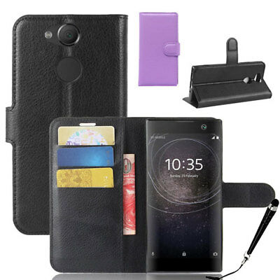 AU12.39 • Buy HQ Wallet Money Card Leather Case Cover Sony Xperia XA2 / XA2 Ultra +FREE Stylus