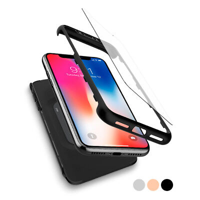 AU20.81 • Buy For IPhone X 10 | Spigen® [Thin Fit 360] Case Cover Tempered Glass Shockproof