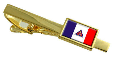 Timoteo City Minas Gerais State Flag Gold Tie Clip Engraved Personalised • 29.99£