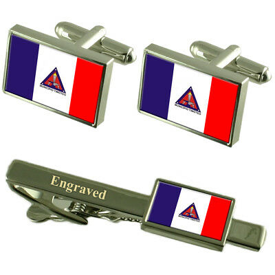 Timoteo City Minas Gerais State Flag Cufflinks Engraved Tie Clip Set • 44.99£
