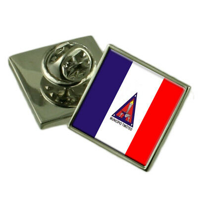 Timoteo City Minas Gerais State Flag Lapel Pin Engraved Box • 79£