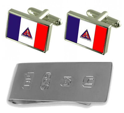 Timoteo City Minas Gerais State Flag Cufflinks & James Bond Money Clip • 185£