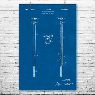 $12.95 • Buy Medical Thermometer Poster Print Doctors Office Art Waiting Room Decor