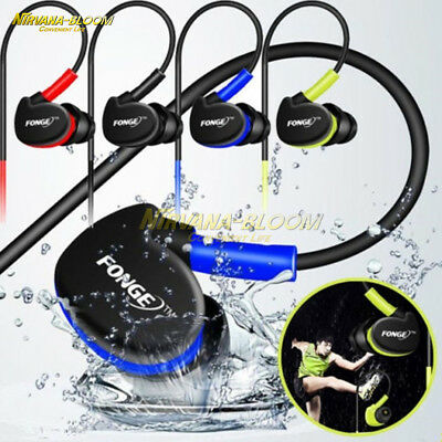 $ CDN1.58 • Buy Waterproof Earphones In Ear Earbuds HIFI Sport Headphones Bass Headset With Mic