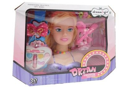 Girls Hair Styling Dream Girl Dolls Head Play Set With Accessories • 12.95£