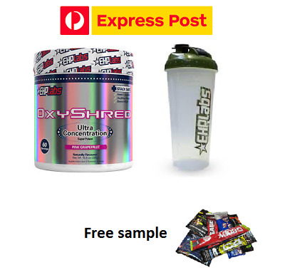 AU79.49 • Buy Ehplabs Oxyshred  Ehp Labs  Oxy Shredthermogenic Fat Burning & Shaker & Express