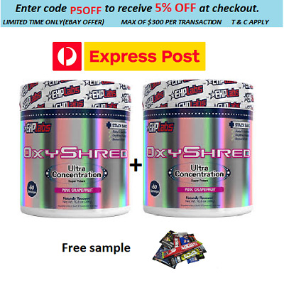 AU118.90 • Buy Ehplabs Oxyshred Thermogenic  Weight Loss Fat Burning Free Express Delivery