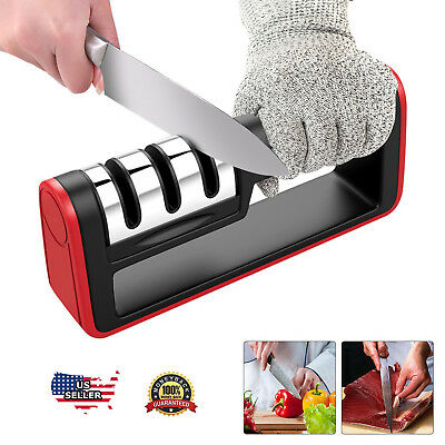 $8.85 • Buy KNIFE SHARPENER Professional Ceramic Tungsten Kitchen Sharpening System Tool