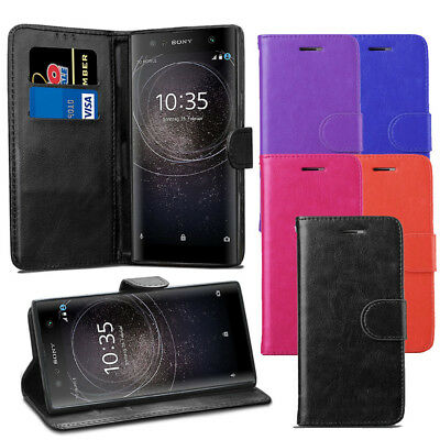 AU6.76 • Buy For Sony Xperia XA2 Case - Premium Leather Wallet Flip Case Pouch Cover