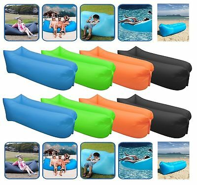 £12.99 • Buy Air Bed Sofa Inflatable Camping Couch Lounger Double Lazy Sleeping Pump New Bag