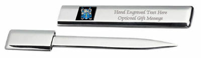 £29.99 • Buy FCA3166ENGAPS829A Tenby Family Crest Coat Of Arms Engraved Letter Opener