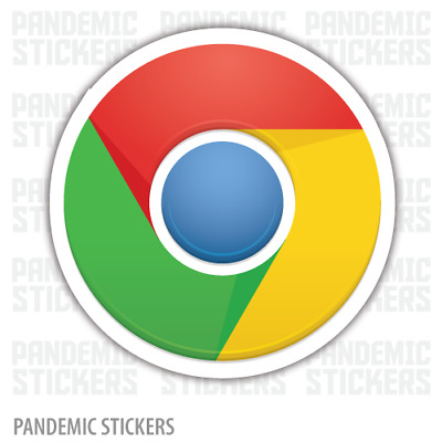 $3.99 • Buy Chrome Logo Vinyl Decal Diecut Sticker Full Color Laptop Car Window Google Logo