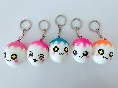 AU14.40 • Buy 5x Slow Rising Cute White Eggs Squishies Squishy Keyring Squeeze Toy Strap Gift