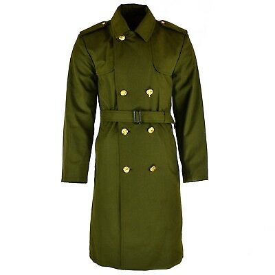 $36.74 • Buy Genuine Czech Army Coat Trenchcoat CZ Military Issue Long Raincoat Olive NEW