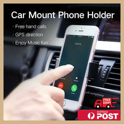 AU6.99 • Buy Universal Car Air Vent Mount Holder Cradle Stand Bracket For Mobile Cell Phone