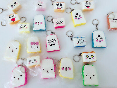AU13.95 • Buy 3 Slow Rising Fake Bread Bakery Keyring Squeeze Toy Strap Gift