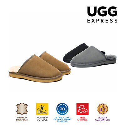 AU60 • Buy EVER UGG Mens Scuffs Slippers Premium Australian Fine Wool Sheepskin