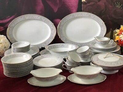 57 DINNER Set  NORITAKE Chelsea Japan Include Tea Cups • 420£