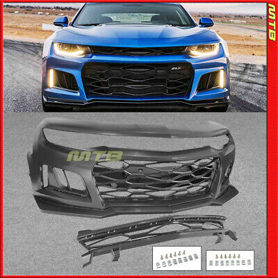 $649 • Buy ZL1 Style Conversion Front Bumper Kit With Grille 16-18 Chevy Camaro RS LT SS LS