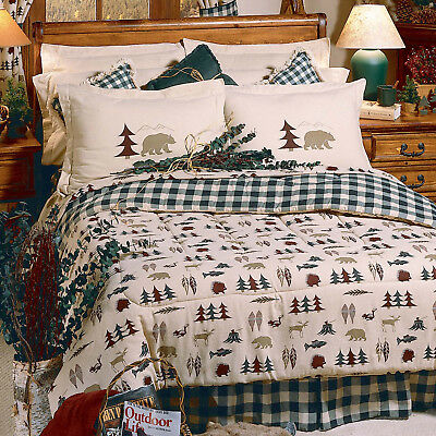 3-11 PC Rustic Cabin Comforter Skirt Shams Bed In Bag Sheets Northern Exposure • 121.60£