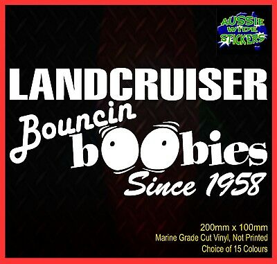 AU6.90 • Buy LANDCRUISER Stickers Accessories Ute Car MX Funny Decal BOUNCE BOOBIES 200mm
