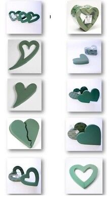 £3.18 • Buy Heart Shape Funeral Tribute Frames Ideal Floral Foam Smithers Oasis Floristry