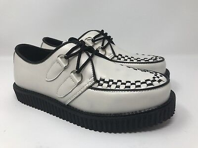 126d28b6688 Men s Demonia Creeper Leather Goth Punk Rock Platform Shoes Sz 7 Creeper 602  • 39.99