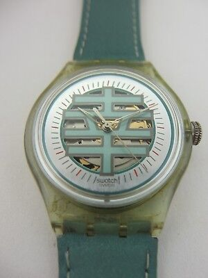 SAG103 Swatch - 1996 Automatic Good Fortune Chinese Writing Swiss Made Authentic • 59.99£