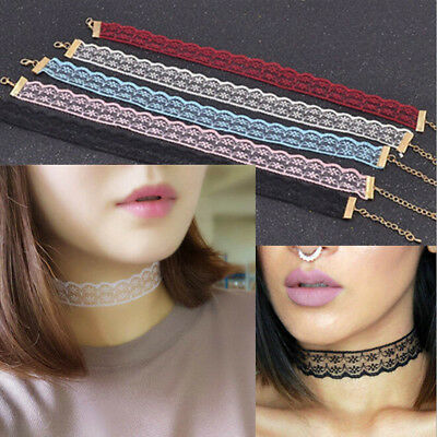 New Punk Gothic Lace Retro Choker Collar Necklace Pendant Chocker Chain Jewelry • 2.98£