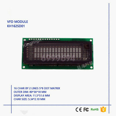 $25.20 • Buy New VFD Display Module 16*2 Characters Compatible With LCM1602 FUTABA M162SD07FA