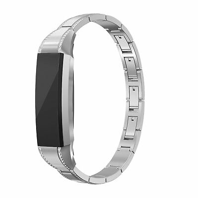 AU36.19 • Buy For Fitbit Alta HR / Alta Band Women Stainless Steel Strap Jewelry Adjustable