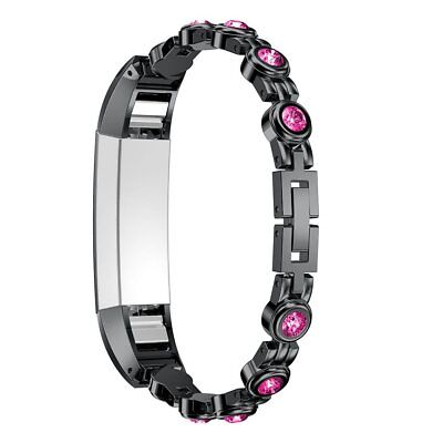 AU36.80 • Buy For Fitbit Alta / Alta Hr Watch Band Stainless Steel Metal Rhinestones Strap