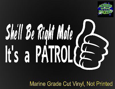 AU6.90 • Buy PATROL Stickers Gu Ute 4x4 Funny Accessories For Nissan RIGHT 200mm