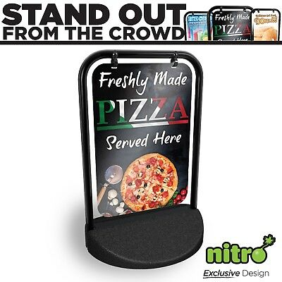 Pizza Shop Swinging Pavement Sign Outdoor Shop A-Board Pizzeria Pizza Restaurant • 62.79£