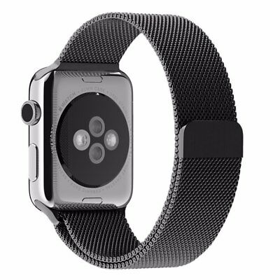 $ CDN28.97 • Buy Apple Watch Band Stainless Steel 42mm Milanese Loop Strap BLACK Series 3, 2, 1