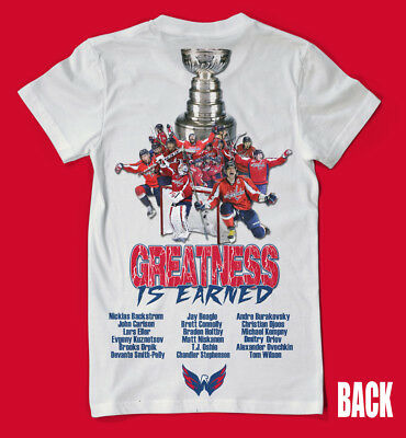 Washington Capitals Stanley Cup Champions 2 SIDED SHIRT - Ovi ALL CAPS WOW ! 273509d90