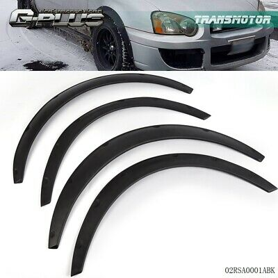 $24.69 • Buy 4Pcs Universal Fender Flares Flexible/Durable Black Fenders Polyurethane For Car