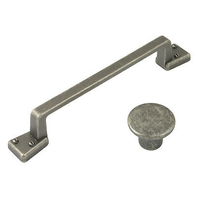 Antique Pewter Door / Drawer Pull Handle / Knob | Kitchen Cupboard Cabinet • 2.98£
