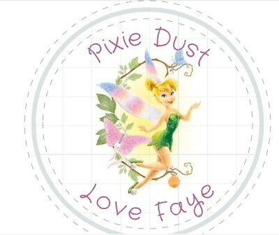 £2 • Buy 24 X Personalised Tinkerbell Labels 40mm Stickers Party Seals Sweet Cone Bags