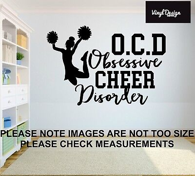 Cheerleader Vinyl Wall Art Quote For Childrens Bedroom Or Wall Sticker • 12.50£