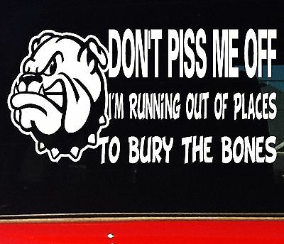 AU6.90 • Buy TOUGH BNS JDM Car 4x4 Ute Stickers BURY THE BONES Funny Sticker 200mm