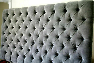 TOP QUALITY  LUXURY Buttoned COLCHESTER  BED HEADBOARD IN CHENILLE IN TALL 30   • 75.99£