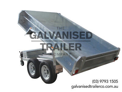 AU6900 • Buy 9x5 Hydraulic Tipper Trailer Heavy Duty Galvanised W/ 3.5T GVM & Deep 410 Sides