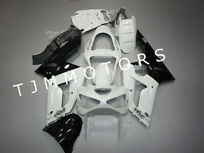 $499.99 • Buy For NINJA ZX6R 636 2003 2004 Black White ABS Injection Mold Bodywork Fairing Kit