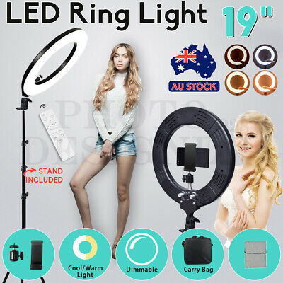 AU24.84 • Buy 19  5500K Dimmable Diva LED Ring Light Diffuser Stand Make Up Beauty Studio NEW