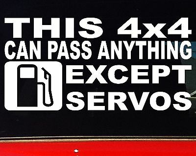 AU6.90 • Buy THIS 4x4 Funny Camping Offroad 4WD Ute Wagon Car Stickers 200mm