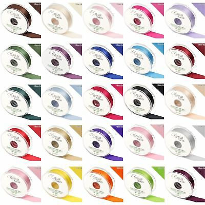 Eleganza Satin Double Sided Faced Quality Craft Ribbon Roll Reel Decoration Cake • 4.26£
