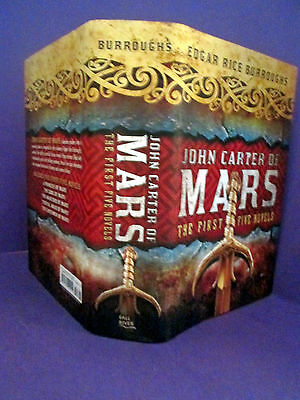 John Carter Of Mars By Edgar Rice Burroughs - First Five Novels HCDJ • 15.99$